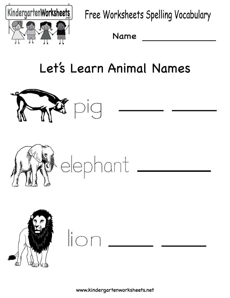 Printables Spelling And Vocabulary Worksheets kindergarten free spelling and vocabulary worksheet printable pinterest printables english spe