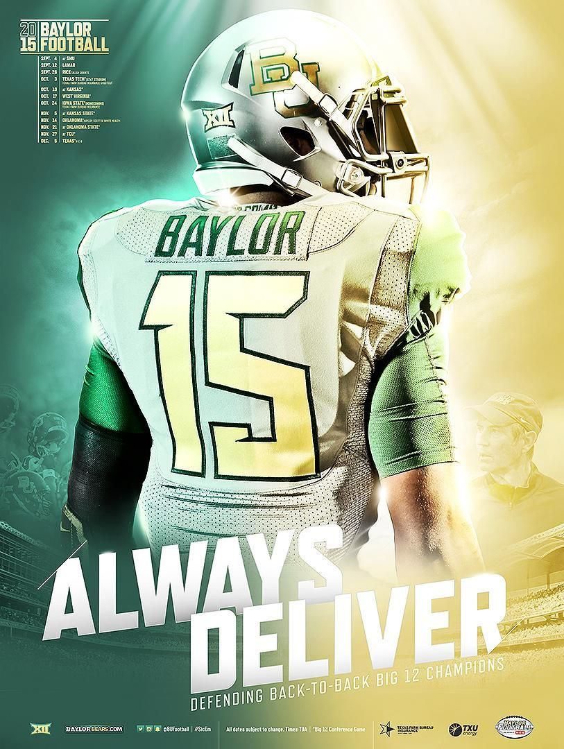 1. of sports 2. Baylor poster 3. the Baylor bears are a top 15 school in the nation and people would love a cool poster like this. 4. online at Baylor store 5. 25 dollars