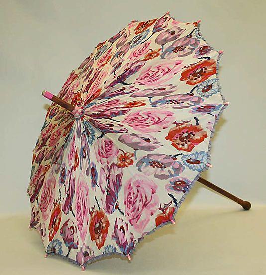 Parasol  Date: 1913–27 Culture: French Medium: silk, wood