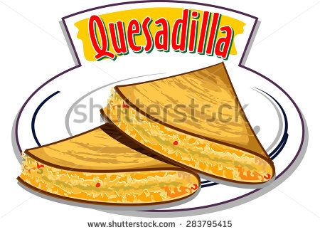 Quesadilla - traditional mexican food. Vector illustration ... Начос Png