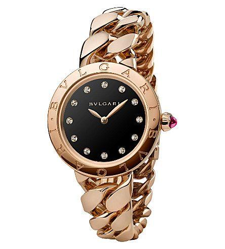 cdb1037a570d BVLGARI BVLGARI-BVLGARI Catene 18ct pink-gold and diamond watch ...