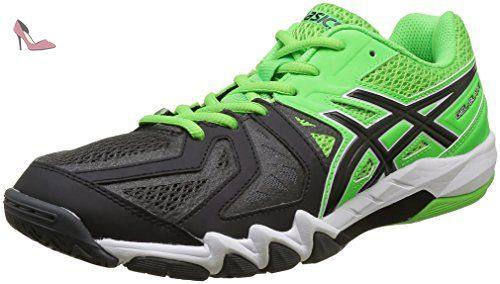 Asics Gel Blade 5, Chaussures de Handball Homme, Vert (Green Gecko/Black