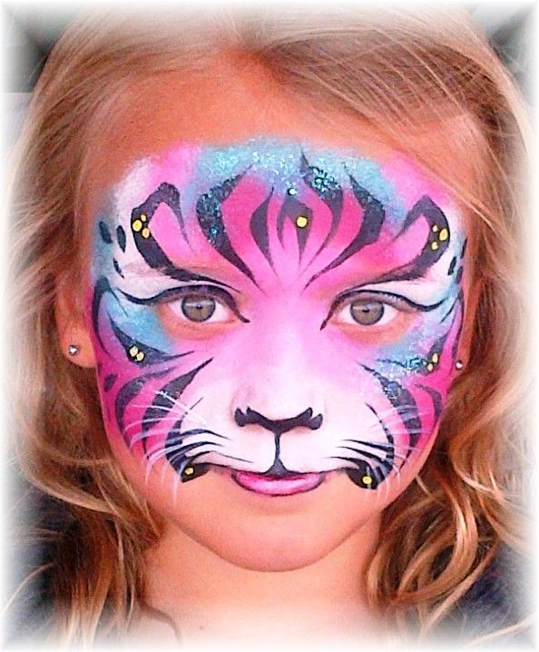 tiger face paint google search zoo animals pinterest