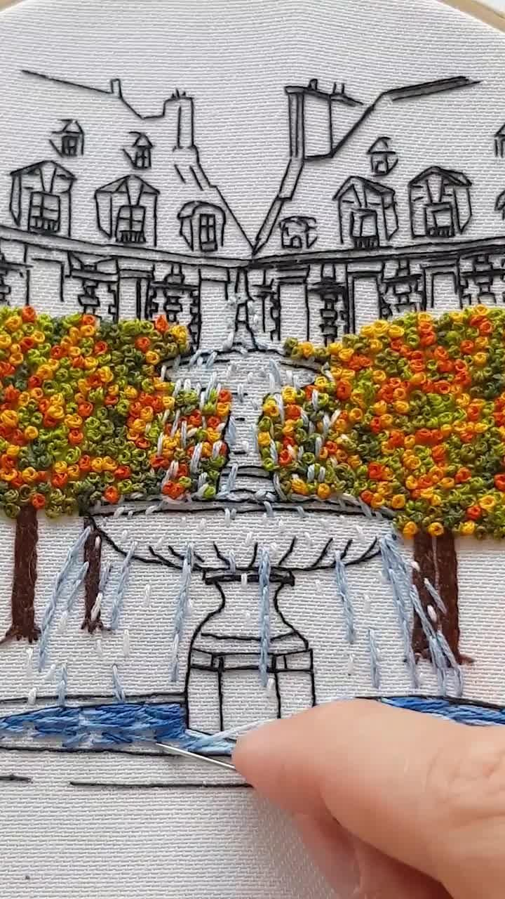 Embroidery of Paris, Place des Vosges, Full process on YouTube