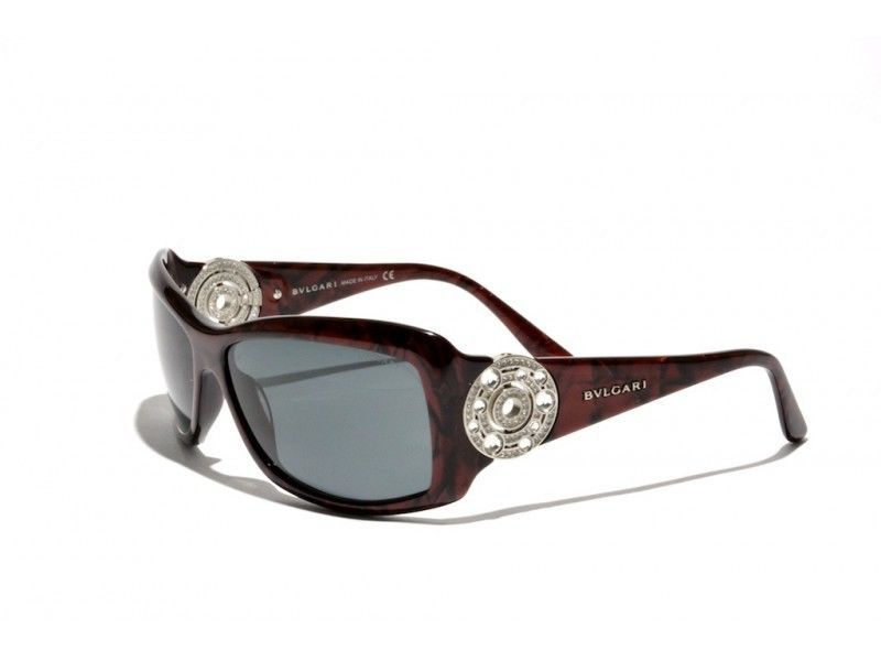 cd692ed809cb BVLGARI 8007B SUNGLASSES RED GREY NEW VINTAGE SWAROVSKI CRYSTAL CASE NEW   BVLGARI