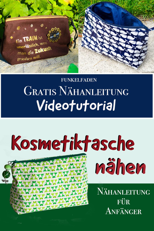 Photo of Freebook – Gratis Videoanleitung Kosmetiktasche Nähen von Funkelfaden