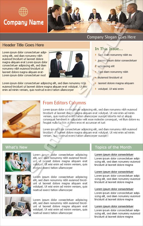examples of company newsletter designs google search