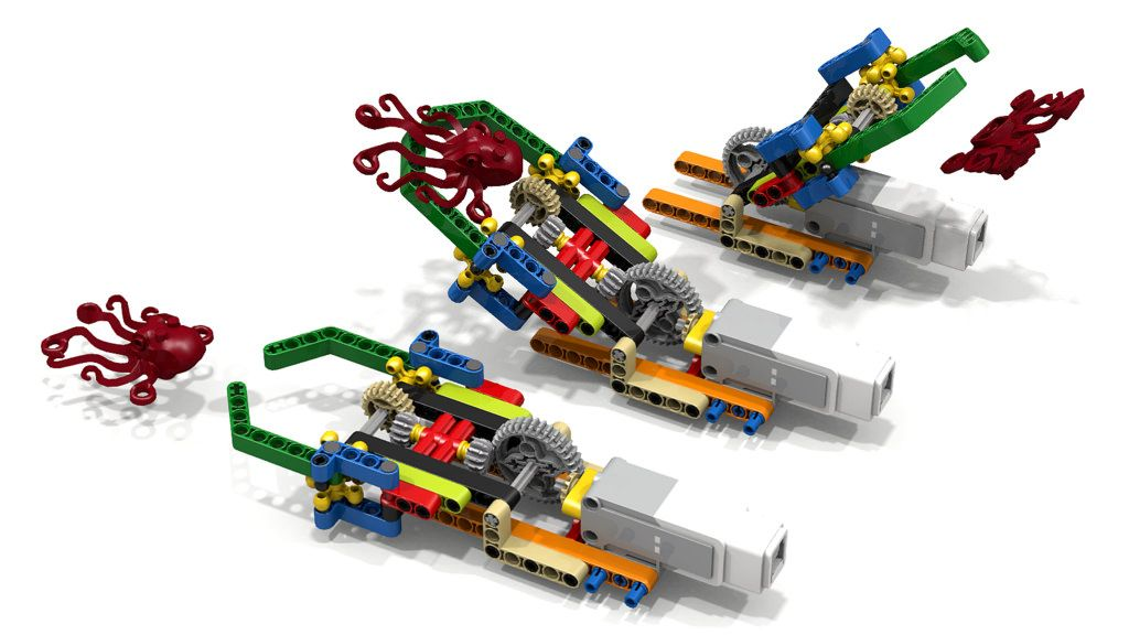 LEGO Grip-Lift-Release Grabber range (dluders) Tags: lego claw ...