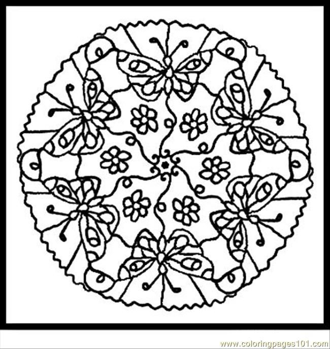 mandalas to color free printable coloring page animal mandalas 3 insects butterfly - Butterfly Color Page 3
