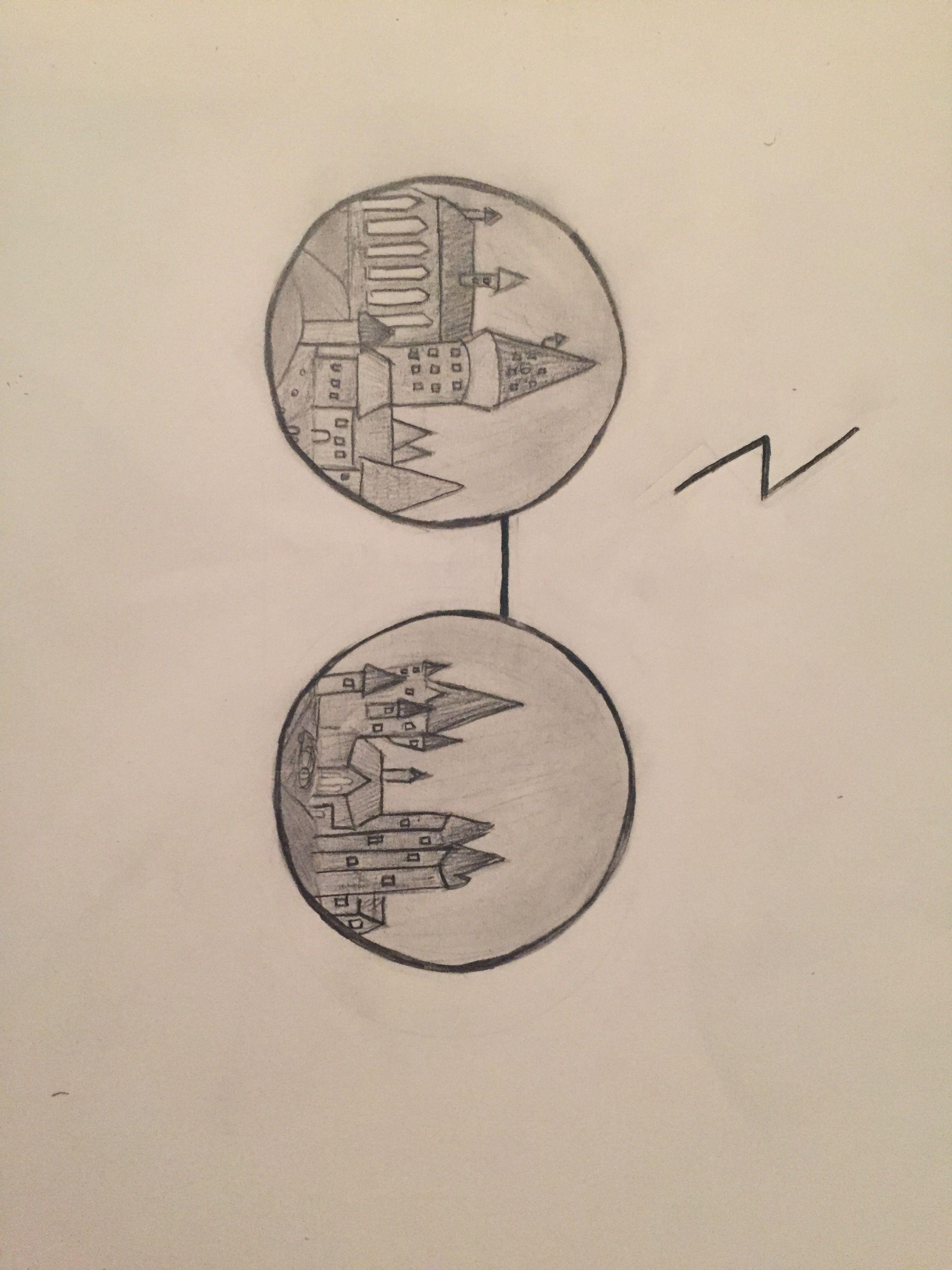 Harry potter drawing of hogwarts