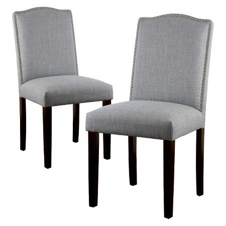 Camelot Nailhead Dining Chair Dove Gray