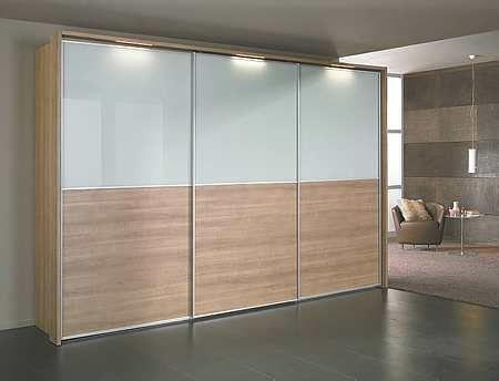 Schuifdeur kast Deuren bovenzijde mat glas, onderzijde hout http ...