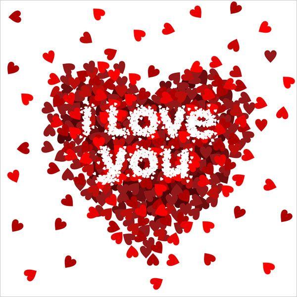 I love you Image card design for valentine 01 30 Happy Valentines – Valentine Love Cards
