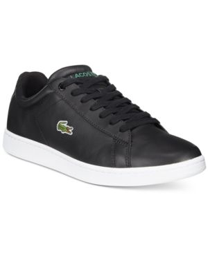 0325769c948f56 Lacoste Men s Carnaby Evo Canvas Low-Tops - Black 10.5
