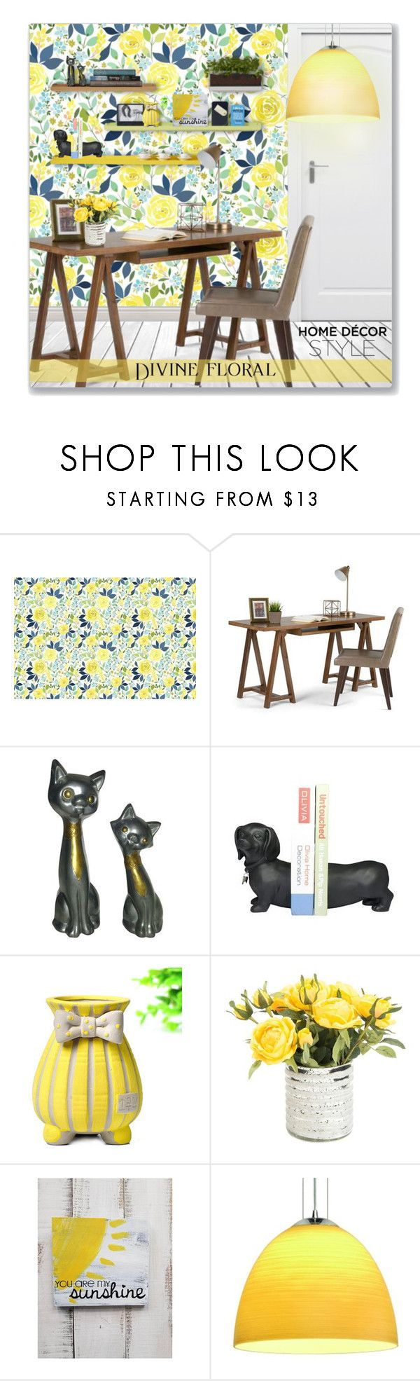 """""""You Are My Sunshine - Interior"""" by leanne-mcclean ❤ liked on Polyvore featuring interior, interiors, interior design, home, home decor, interior decorating, WyndenHall, SLV Lighting and Bertoni"""