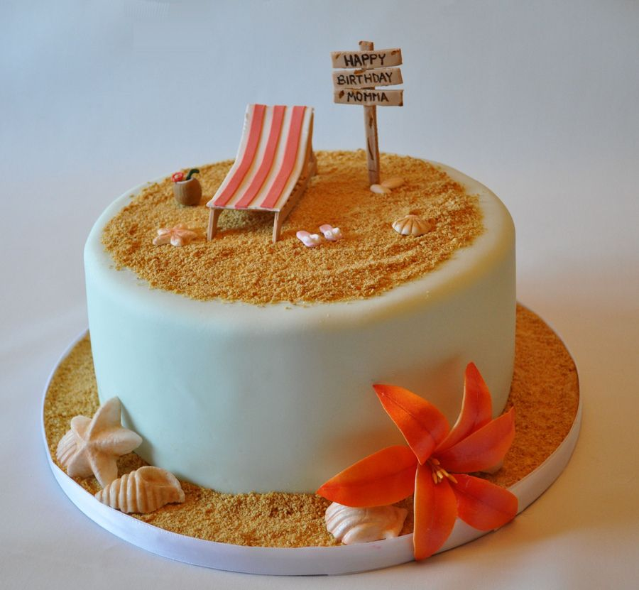 beach theme birthday cake In Beach theme birthday cake in album