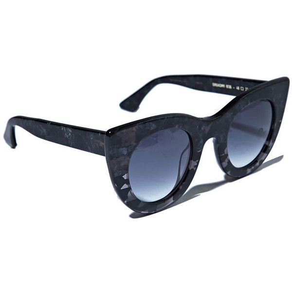 Thierry Lasry Orgasmy Sunglasses (530 AED) ❤ liked on Polyvore featuring accessories, eyewear, sunglasses, black, thierry lasry, black sunglasses, thierry lasry sunglasses, black glasses and thierry lasry eyewear