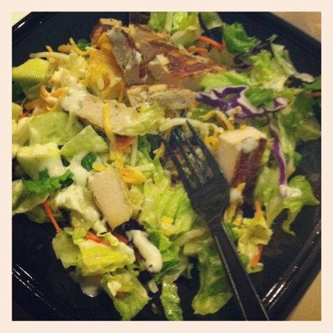 Grilled Chicken Salad At Zaxby S No Texas Toast Or Fried Onions