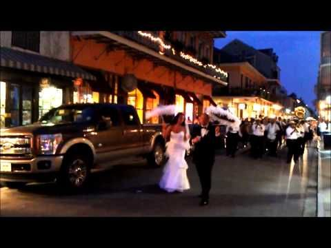 Newlyweds Dance in the Street (French Quarter, New Orleans)