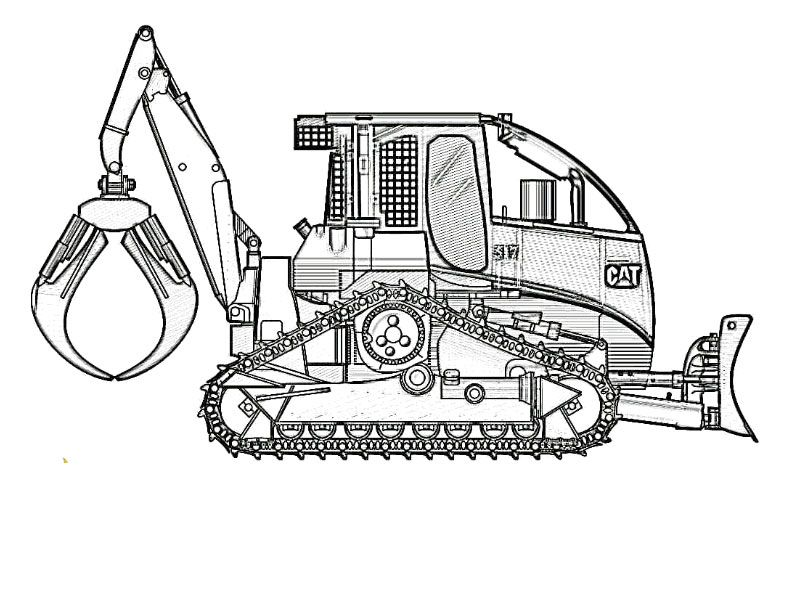 Terex 6300AC Dump Truck Coloring At YesColoring Im Just Saying These Real Construction Vehicle Pages Are Cool And Free