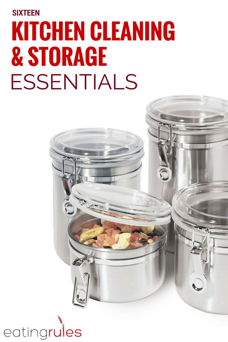 16 Kitchen Cleaning Storage Essentials Stainless Steel Canister Set Stainless Steel Canisters Stainless Steel Containers