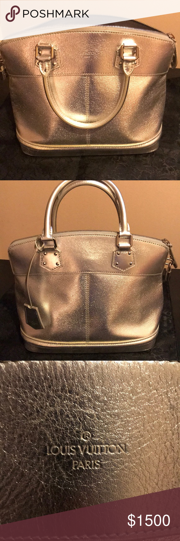 Louis Vuitton Silver Suhali Lockit PM Louis Vuitton Silver Suhali Lockit PM.  Metallic goatskin leather debf8e2edcbd5