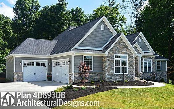 Plan 40893db Kitchen With Two Islands House Plans House Exterior Exterior House Colors