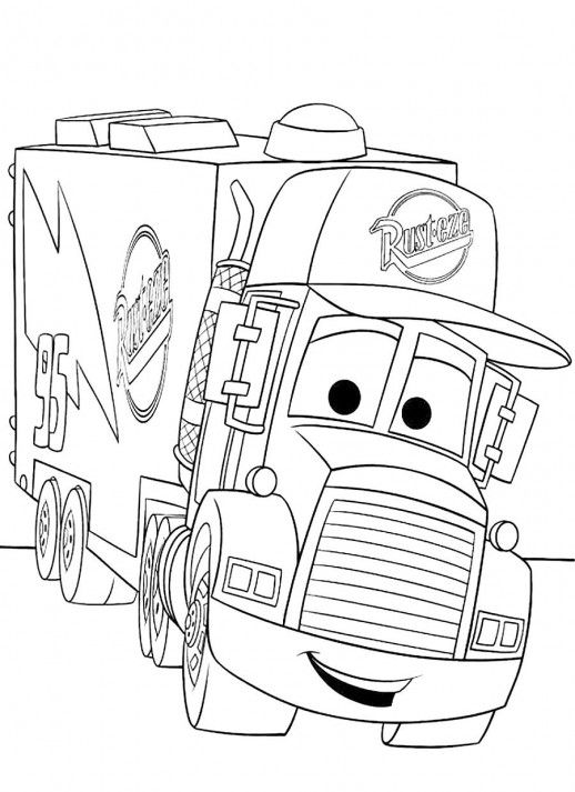 A Truck For Keeping Mc Queen Disney Cars Coloring Pages | Coloring ...