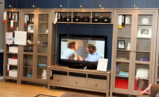 Ikea Entertainment Center  Totally In Love! Entertainment Units, Living Room  Entertainment Center, Hemnes ...