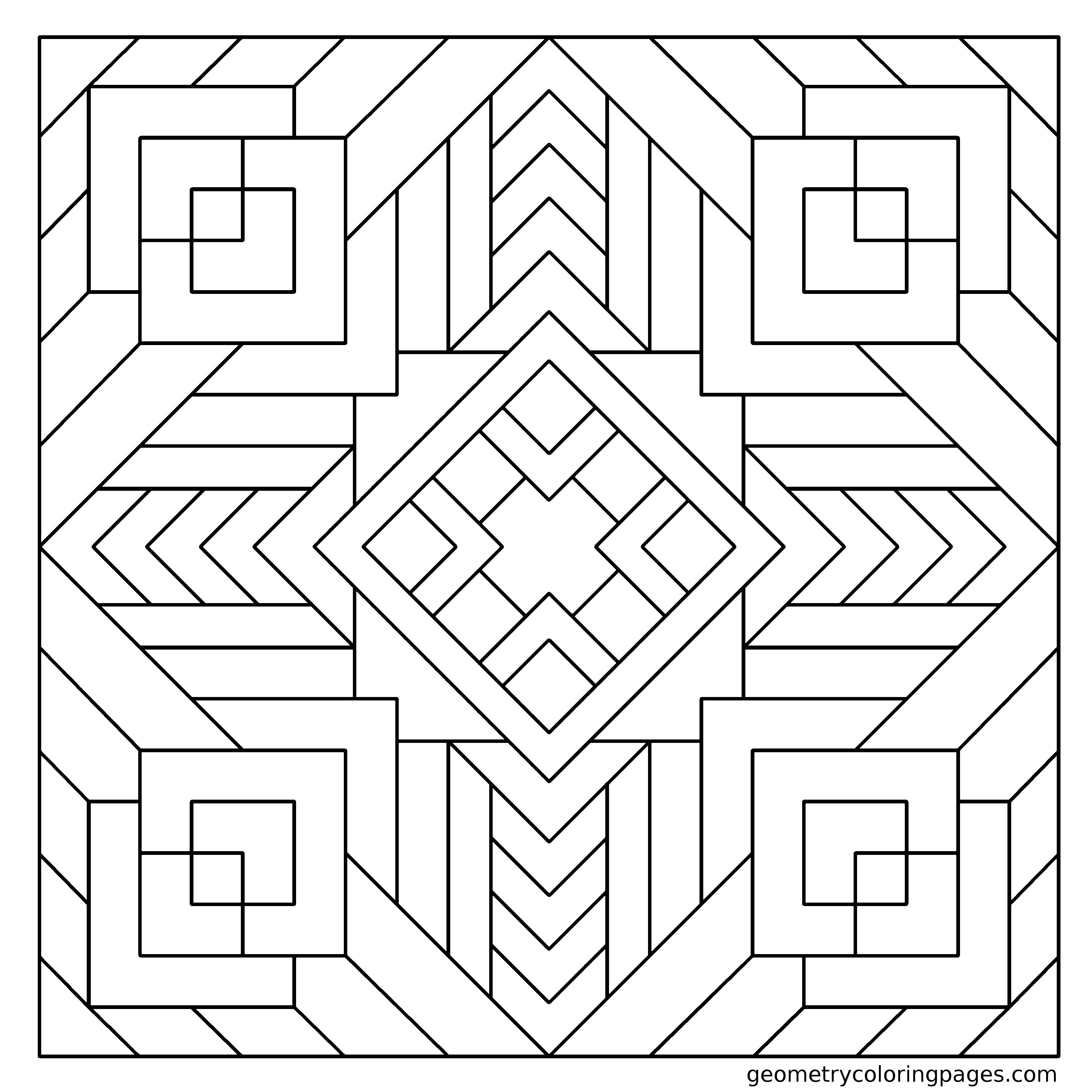 Pin By Jamar Johnson On To Color Geometric Coloring Pages Pattern Coloring Pages Mandala Coloring Pages