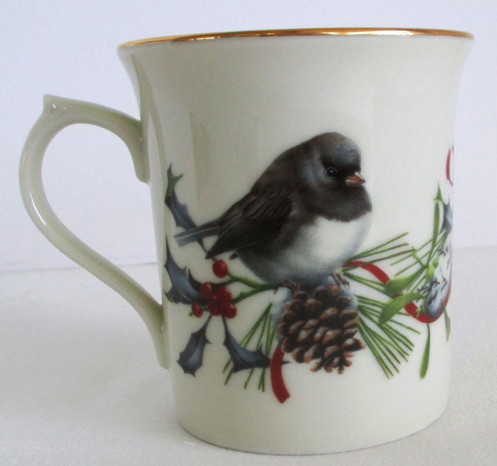 Lenox winter greetings mug cedar waxwing and dark eyed junco birds lenox winter greetings mug cedar waxwing and dark eyed junco birds m4hsunfo