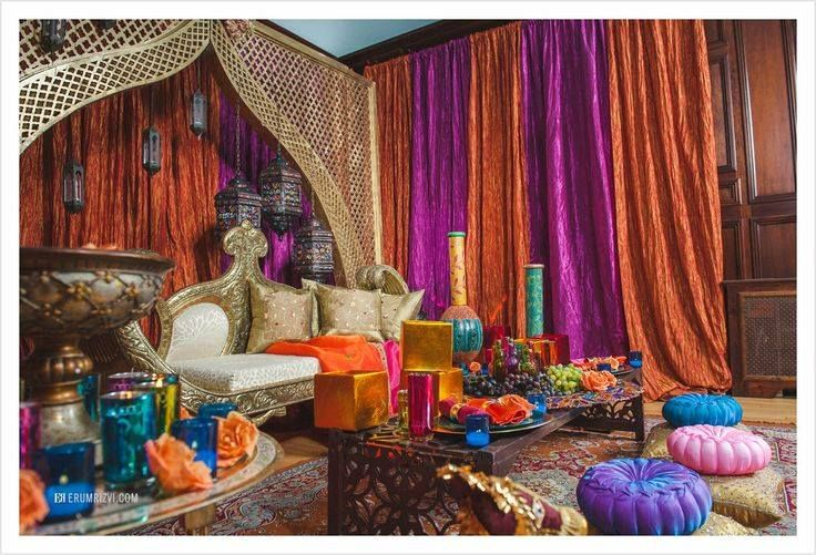 Moroccan Themed Sangeet Decor Photos By The DC, VA, And MD Wedding  Photographer, Erum Rizvi.