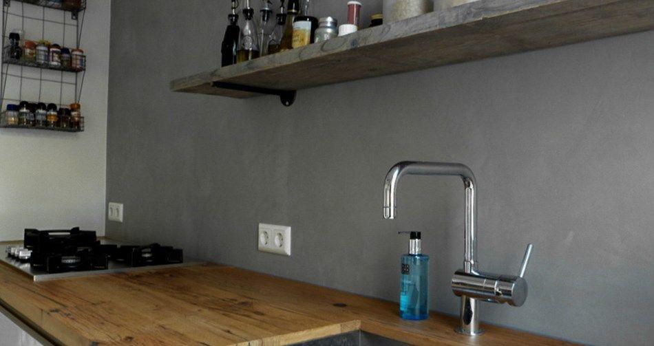 Betonstuc achterwand keuken keuken keuken