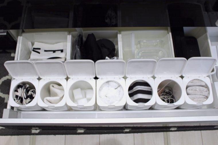 セリア キャンドゥのケースを活用した我が家のキッチン収納 収納