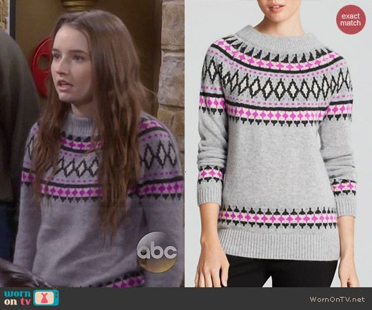 Eve's grey and pink fair isle sweater on Last Man Standing. Outfit ...