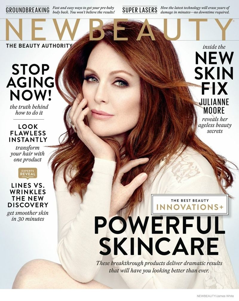 "Julianne Moore Stars in NewBeauty, Talks Being a Redhead - Julianne Moore on Being A Redhead ""My grandmother always said my red hair was my calling card! And I never realized how much I identified with it until I had to dye it blond years ago for a role. It felt so weird, and I couldn't wait to go back to my regular shade."""
