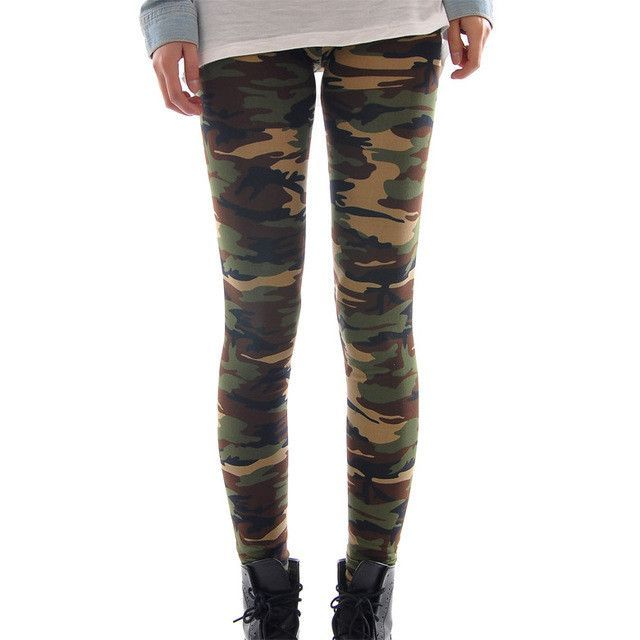 High Quality Women Leggings High Elastic Skinny Camouflage Legging Spring Summer Slimming Women Leisure Jegging Pants Leggings Bottoms