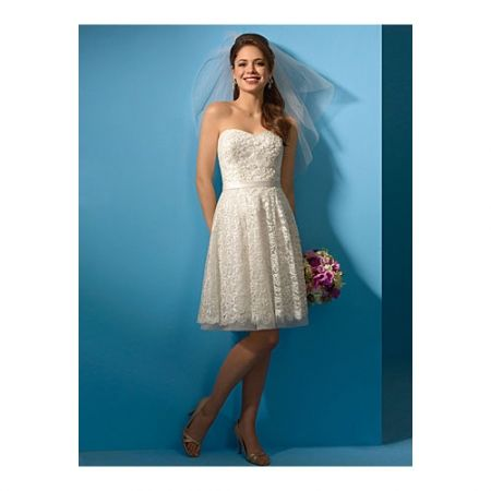 Elegant A-Line Reception Wedding Dress/ Sweetheart Knee Length ...