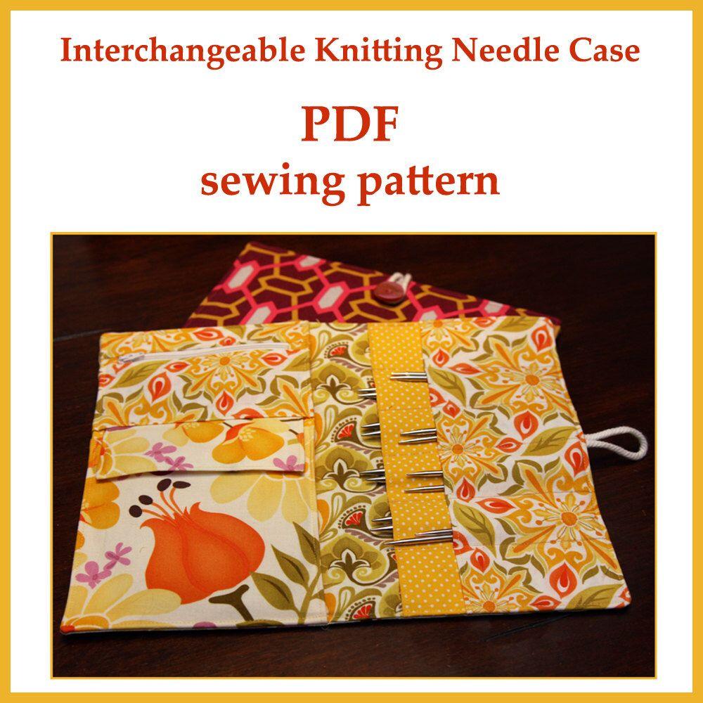 Interchangeable Knitting Needle Case PDF sewing pattern by ...