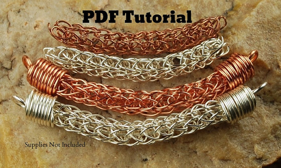 Knitting With Wire Tutorial : Viking knit tutorial with bead caps by carolynsbeads