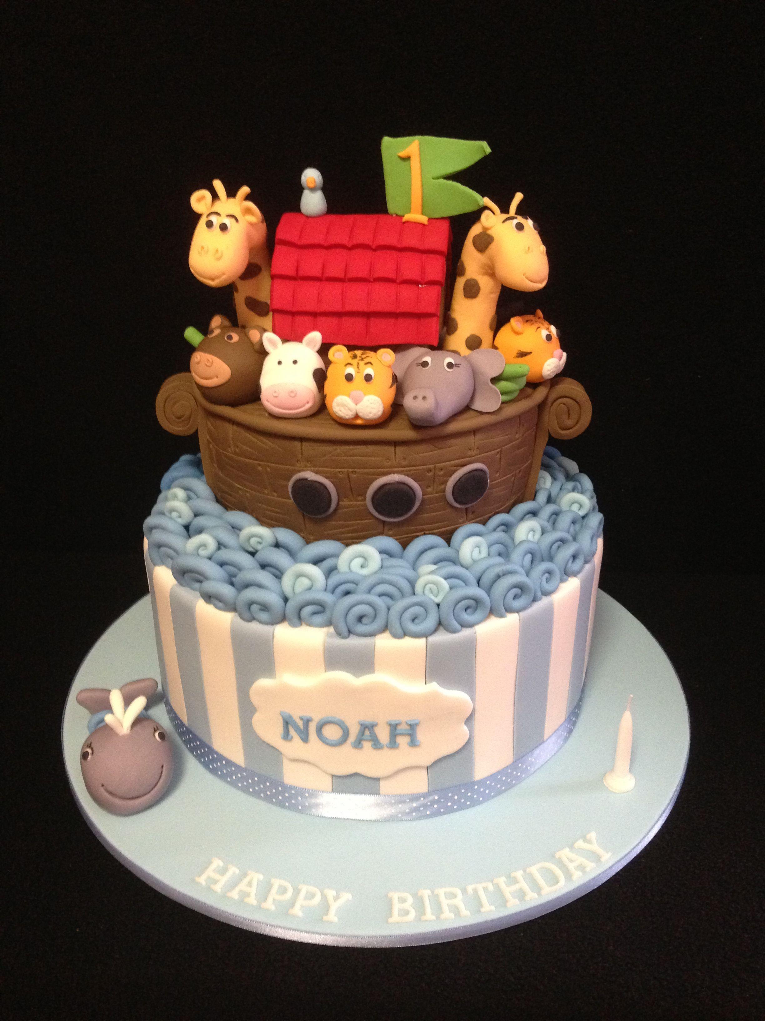 Noah's Arc 1st Birthday Cake Made By @sweetsbysuzie