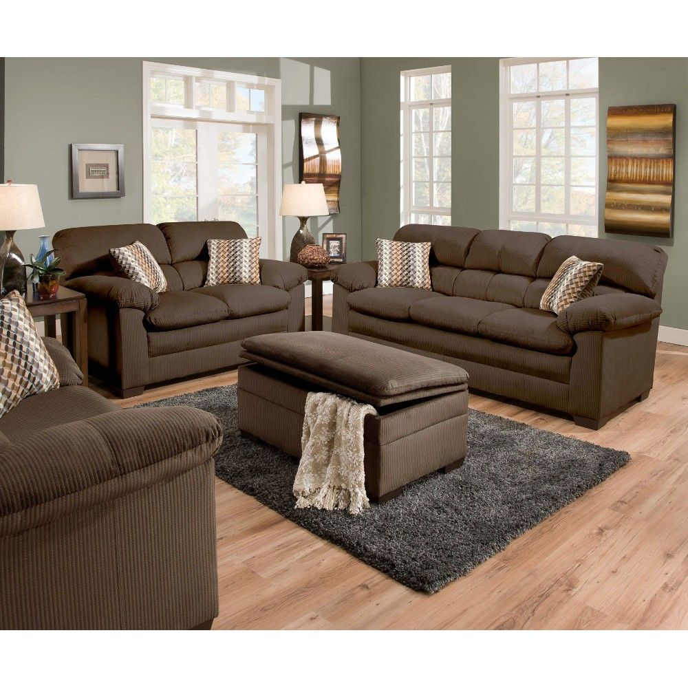 Shown As Set   Loveseat, Ottoman And Chair Sold Separately. Living Room ...
