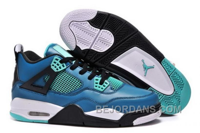 3ea6ba7438f705 ... closeout buy big discount air jordans 4 retro teaser teal black white  for sale from reliable