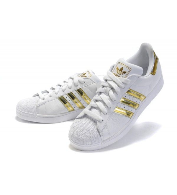adidas superstar foundation white and gold