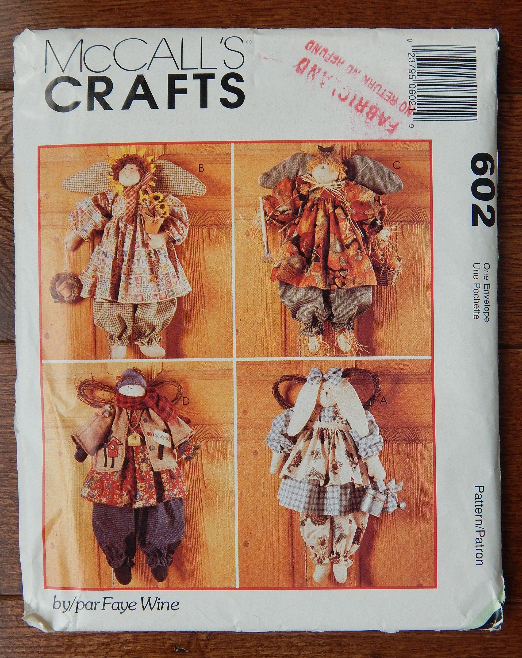 Vintage Country Angels Sewing Pattern Seasonal Bunny Sunflower