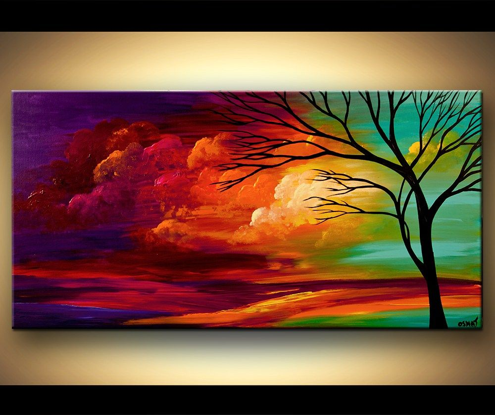 Soulful Easy Acrylic Painting Ideas Along With Beginners Abstract Pergola Li Original Abstract Art Painting Abstract Tree Painting Colorful Landscape Paintings