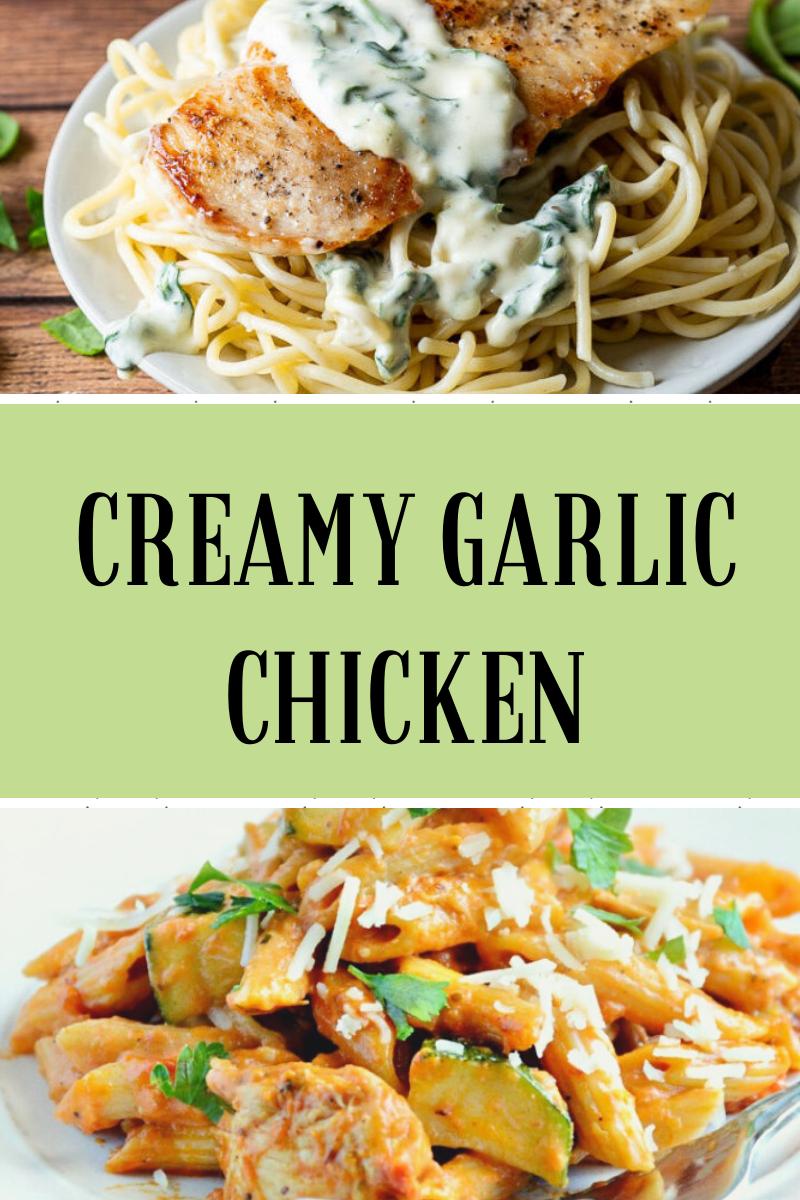 Creamy Garlic Chicken #Chicken #Recipe #creamygarlicchicken