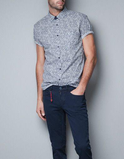PAISLEY PRINT SHIRT - Shirts - Man - ZARA Belgium