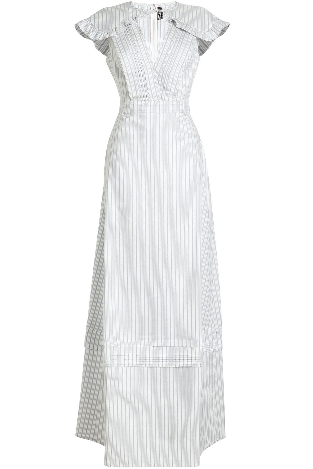Striped Cotton 205w39nyc Klein Calvin Dress In And Silk 1WSnvgx