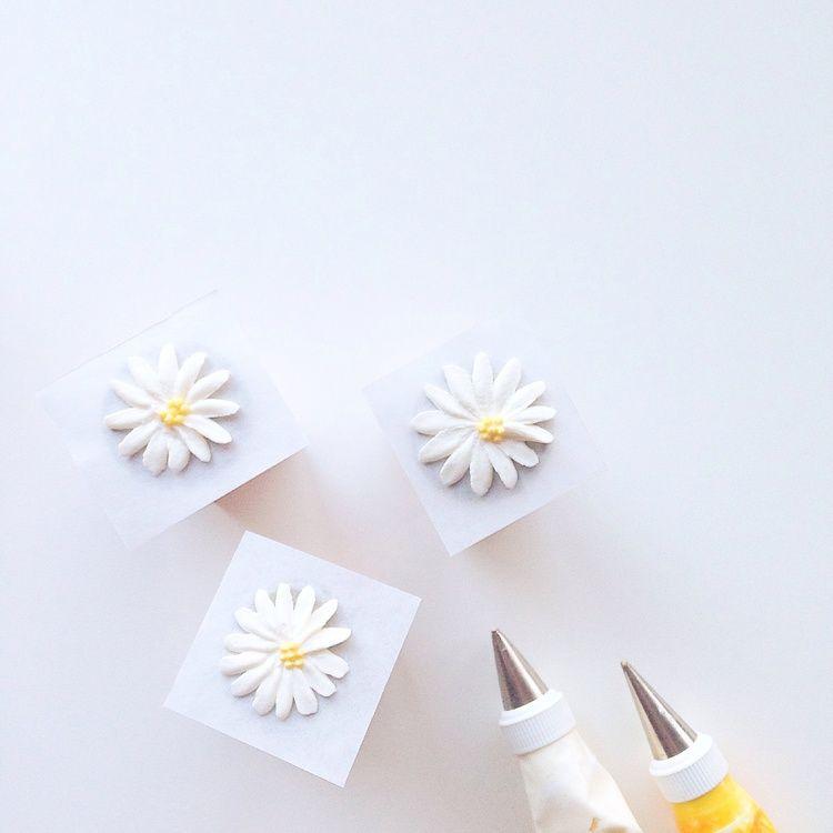 Eat Cake Be Merry - Buttercream Daisy